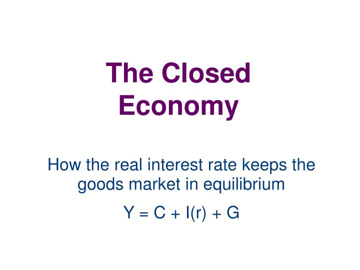 the closed economy n.