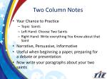 two column notes1