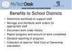 benefits to school districts