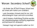 warum secondary school