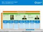 new management team strong operational focus