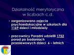 dzia alno merytoryczna w liczbach c d1