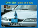 one star plate and flag