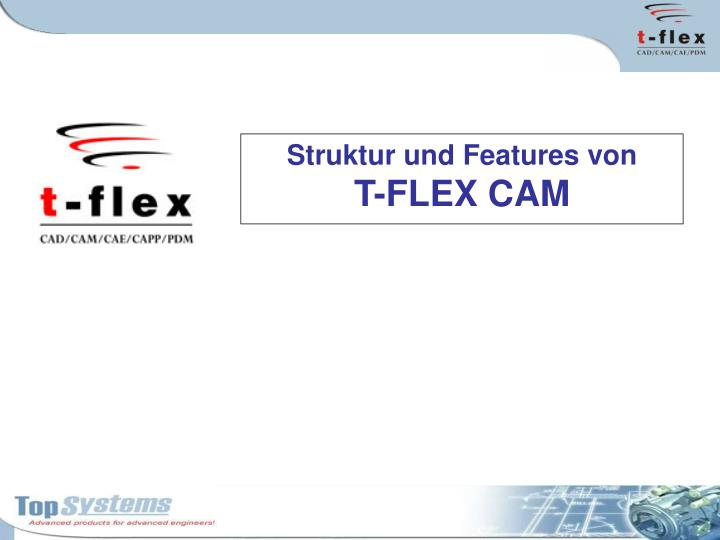 struktur u nd features von t flex cam n.