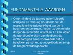fundamentele waarden1
