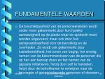 fundamentele waarden6