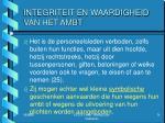 integriteit en waardigheid van het ambt1