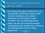 integriteit en waardigheid van het ambt4