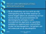 recht van meningsuiting beroepsgeheim3