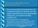 recht van meningsuiting beroepsgeheim8