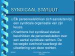 syndicaal statuut