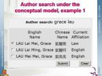 author search under the conceptual model example 1