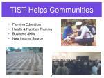 tist helps communities