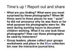time s up report out and share