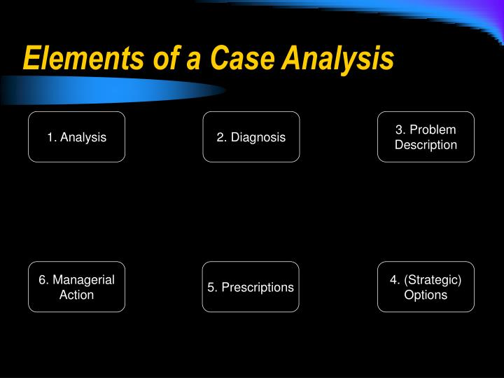 Elements of a Case Analysis