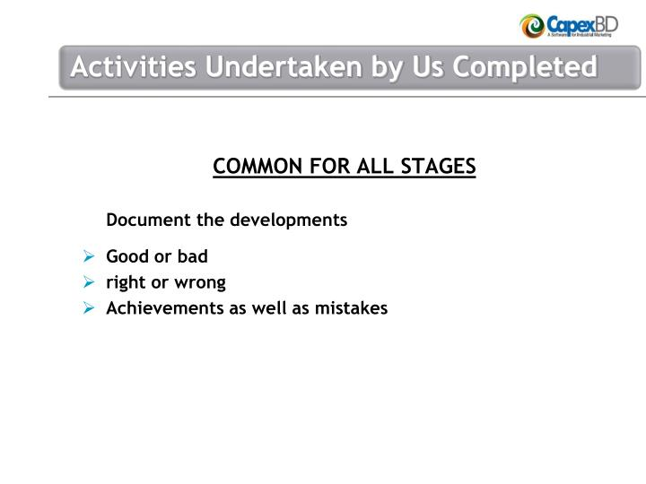 COMMON FOR ALL STAGES