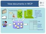 view documents in wcp