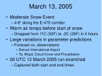 march 13 2005