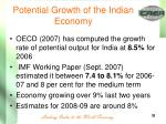potential growth of the indian economy