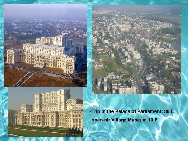-Trip in the Palace of Parliament: 30 E