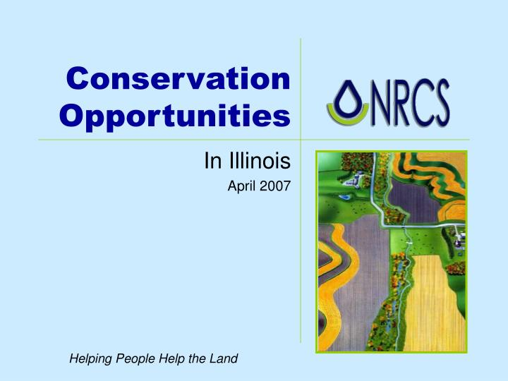 conservation opportunities n.