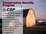 conservation security program