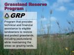 grassland reserve program