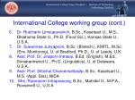 international college working group cont