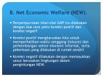 b net economic welfare new
