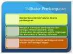 indikator pembangunan