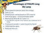 advantages of philips long life lamp