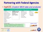partnering with federal agencies