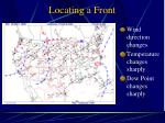 locating a front