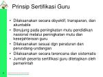 prinsip sertifikasi guru