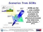 scenarios from gcms