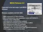 mdss release 4 0