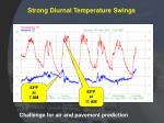 strong diurnal temperature swings