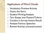 applications of word clouds