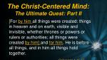the christ centered mind the ultimate quest part ii1