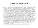 novel vs romance