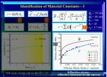 identification of material constants 1
