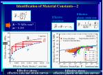 identification of material constants 2