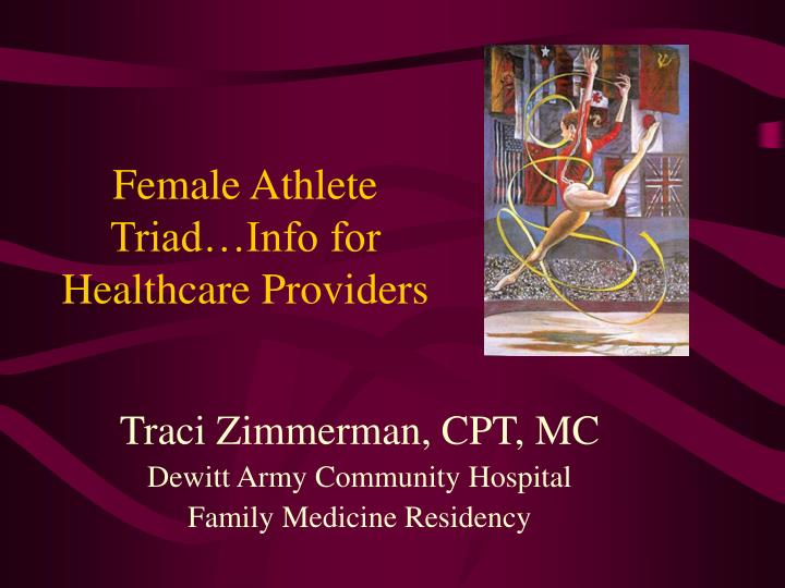 female athlete triad info for healthcare providers n.