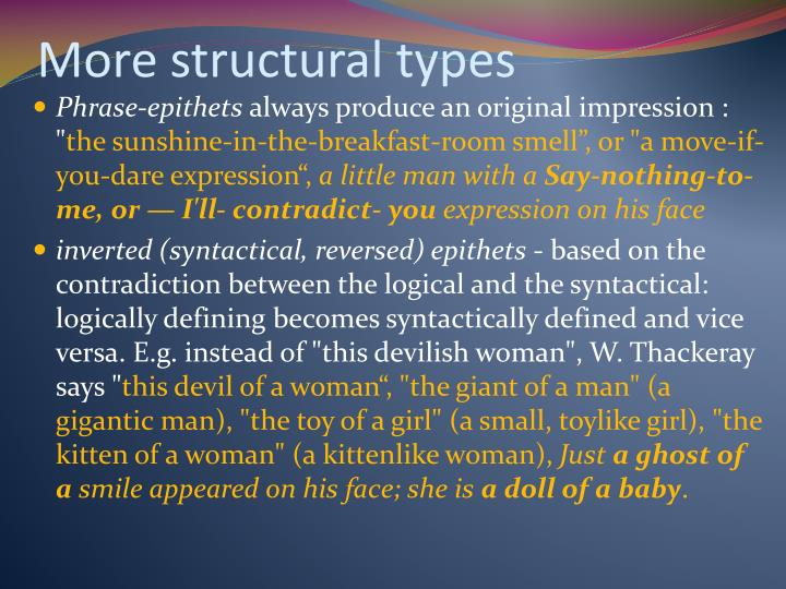More structural types