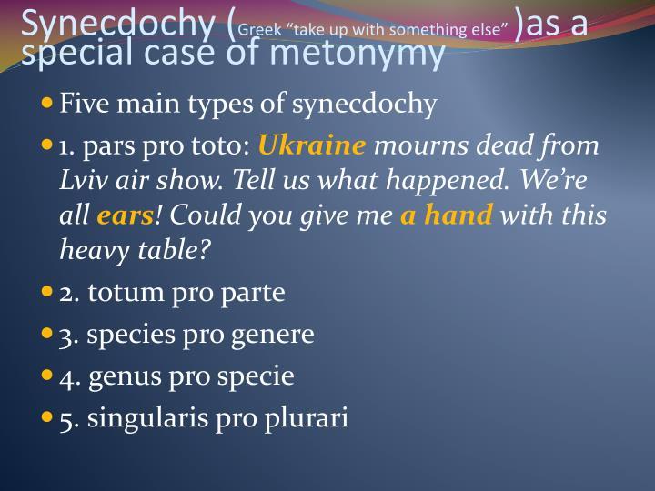 Synecdochy