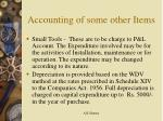 accounting of some other items