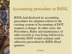 accounting procedure in bsnl