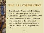 bsnl as a corporation