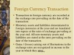 foreign currency transaction