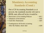 mandatory accounting standards contd